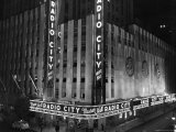 Nighttime Exterior of Radio City Music Hall