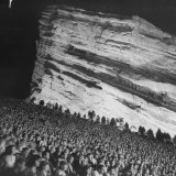 Creation Rock Dwarfs Audience during Concert Directed by Igor Stravinsky at Red Rocks Amphitheater