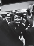 Author Ayn Rand Chatting with Admirers at National Book Awards