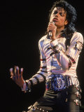 Pop Entertainer Michael Jackson Singing at Event