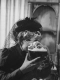 "Lucille Ball Drinking Beer Between Scenes of a Skit in Show Called ""The Good Years"""