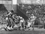 Ny Giants in Dark Jerseys  in a Football Game Against the Green Bay Packers at Yankee Stadium
