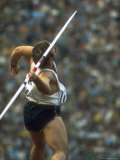 US Track Athlete William Schmidt Throwing Javelin at the Summer Olympics