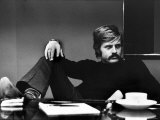 Actor Robert Redford Brooding While Conferring with His Agent