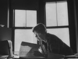 Noted Anthropologist Dr Margaret Mead at Work at the American Museum of Natural History