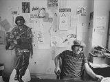 Editor of Chicago Underground Newspaper John Walrus Sitting in Office