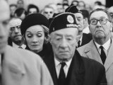 Actress Marlene Dietrich  at Memorial Service for John F Kennedy  Headquarters of American Legion