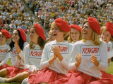 Females During Rally at UCLA for California Repub Governor Candidate Ronald Reagan During Campaign