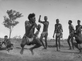 Australian Aborigines Filled with the Spirit of the Kangaroo  Dancing to Honor the Sacred Marsupial