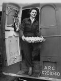 Member of Red Cross Clubmobile Katherine Spaatz  Dispensing Doughnuts  Coffee  Cigarettes and Gum