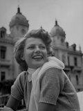 Actress Rita Hayworth Outside Casino
