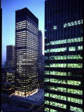 Facades of Seagram Building Designed by Ludwig Miles Van Der Rohe and Lever House