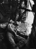 Helicopter Chief James C Farley Working Jammed Machine as Pilot Lt James Magel Dying Beside Him