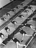 Women Doing Calisthenics to Music in Exercise Class in the Gymnasium of Riverside Church
