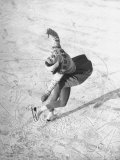 Barbara Ann Scott Making School Figures at the World Figure Skating Contest