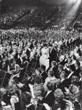 Elizabeth Taylor with Husband Eddie Fisher Accept Her Oscar Award During Academy Awards Ceremony