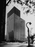 View of Mies Van Der Rohe's Glass Walled Apartment house in Chicago