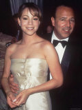 Pop Singer Mariah Carey Being Embraced by Her Husband Sony Music Chief Tommy Mottola at Event