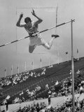 Bob Richards Competing in the High Jump at 1952 Olympics