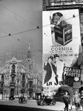 Billboard in the Piazza Del Duomo features Abbott and Costello  Whom Italians Call Cianni E Pinotto
