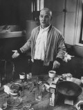 Willem de Kooning Preparing to Drink a Cup of Coffee in His East 10th St Studio