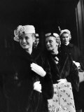 Actress Grace Kelly with Mother  Mrs John D Kelly and Sister Before Leaving for Wedding in Monaco