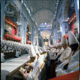 St Peter's Basilica During the 2nd Vatican Ecumenical Council of the Roman Catholic Church