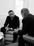 Civil Right Leader Dr Martin Luther King Speaking with President Lyndon Johnson