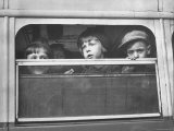 Children Being Evacuated from City During Ongoing German Bombing Blitz  aka the Battle of Britain