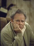 Carroll O'Connor Posing as Archie Bunker in TV Series All in the Family