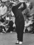 Masters Golf Tournament Winner Gary Player  Teeing Off