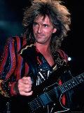 Member of Rock Group Judas Priest Performing