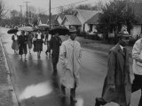 Pilgrimage Protest with Black Montgomery Citizens Walking to Work  in Wake of Rosa Parks Incident