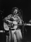 Bob Dylan during Rock Concert at Madison Square Garden