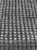 "Nationalist Chinese ""Boy Battalion"" Soldiers  En Masse  in Line Formation  During Army Day Parade"