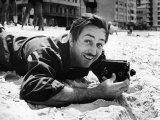 Film Maker Walt Disney Filming on Brazilian Beach