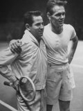 Tennis Players Bobby Riggs and Jack Kramer Posing at Madison Square Garden