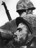 Weary American Marine  Pfc T E Underwood  During the Final Days of the Fierce Battle for Saipan