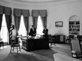 President John F Kennedy in Oval Office with Brother  Attorney General Robert F Kennedy