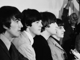 Members of the Beatles During an Interview at Los Angeles International Airport