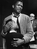 Sidney Poitier in Scene from A Raisin in the Sun Aluminium par Gordon Parks