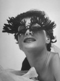 Silly Sunglasses Featuring Long Blue Eyelashes and Small Lenses by Designer Schiaparelli