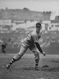 Red Sox Dave Ferriss Pitching to Yankee Player at Yankee Stadium During Game