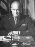 Supreme Allied Commander Gen Dwight D Eisenhower  Posing for the Cover of Life Magazine