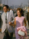 California Gubernatorial Candidate Ronald Reagan with Wife Nancy While on the Campaign Trail