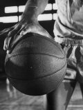 Basketball Player Wilt Chamberlain Holding a Basketball