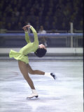 Figure Skater Peggy Fleming Competing in the Olympics