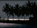 Moonlight Reflected on the Water at Key Biscayne  Florida