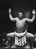 Grand Champion Sumo Wrestler  Taiho Performing Ring Ceremony Before Match
