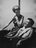Conductor Leonard Bernstein Sitting with His Wife